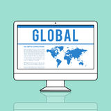 Global Communications Connection Social Networking World Map Con Stock Photo