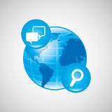 global communications design Royalty Free Stock Image