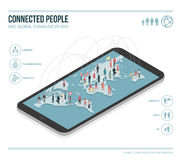 Global communications infographic vector illustration