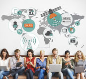 Global Communications Social Networking Connection Concept Royalty Free Stock Images
