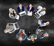 Global Communications Technology Laptop Digital Devices Concept Stock Photo
