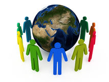 Global Communications. On a white background Stock Image