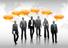 Global community concept. Business-people taking - vector illustration Stock Images