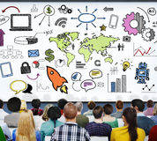 Global Community Start Up Launch Teamwork Online Concept Royalty Free Stock Image