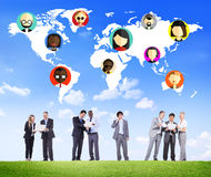 Global Community World People Social Networking Connection Conce Stock Image