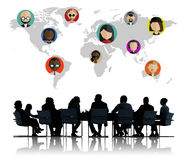 Global Community World People Social Networking Connection Stock Image
