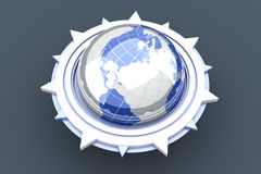 Global compass Stock Image
