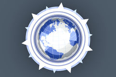 Global compass Royalty Free Stock Images