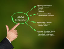 Global Competence. Presenting Diagram of Global Competence stock photo