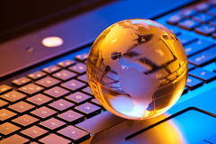 Global computer business concept Stock Photos