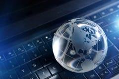 Global computer concept royalty free stock photos