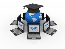 Global computer education Stock Photo