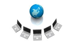 Global Computer Network. In 3d Royalty Free Stock Photos