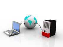 Global Computer Network. On  white background Stock Image