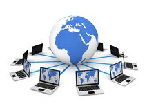 Global Computer Network. In 3D Royalty Free Stock Image