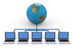 Global computer network. Stock Images