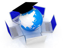 Global computer network Stock Photography