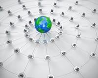 Global computer network. 3D render of global computer network Stock Photos