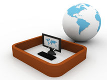 Global computer network Stock Image