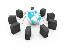 Global computer Network. On white background Stock Photos