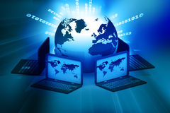 Global computer Network Royalty Free Stock Photo