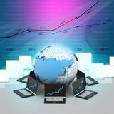 Global computer network. In abstract background Stock Photos