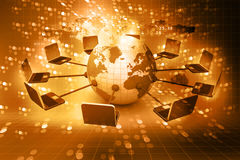 Global computer Network. On abstract background Royalty Free Stock Photography