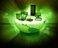 Global computer Network. Abstract tech background Stock Image
