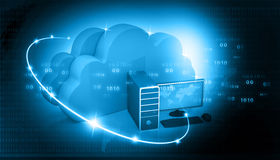 Global Computer network. With cloud computing royalty free illustration
