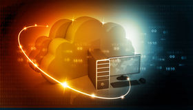 Global Computer network. With cloud computing Stock Images