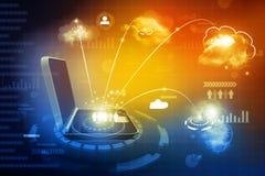 Global computer network. Cloud computing concept, global computer network Royalty Free Stock Photo