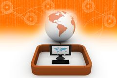 Global computer network Stock Photos