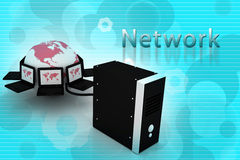Global computer Network Stock Photo