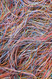 Global computer network connections. Information chaos Stock Image