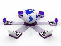 Global computer Network Stock Image