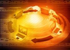 Global computer Network Stock Photo