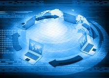 Global computer Network. 3d render Royalty Free Stock Photo