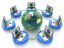 Global computer Network. In the design of information related to internet Stock Photo
