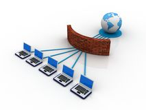 Global computer Network. In digital background Stock Image