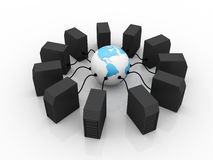 Global computer Network. In digital background Royalty Free Stock Images