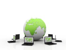 Global computer Network. In digital background Royalty Free Stock Photo