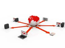 Global computer Network. In digital background Royalty Free Stock Photography
