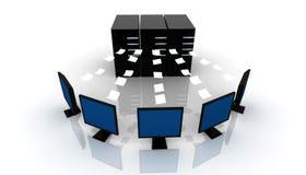 Global computer Network. Digital illustration of Global computer Network Royalty Free Stock Photo