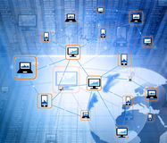 Global Computer network. Digital illustration of Global Computer network Stock Photos