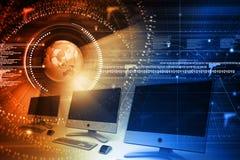 Global computer network. Digital illustration of Global computer network Stock Image