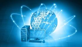 Global Computer network. Digital illustration of Global Computer network Stock Photo