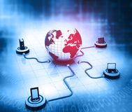 Global Computer Network. And internet communication concept Stock Photo