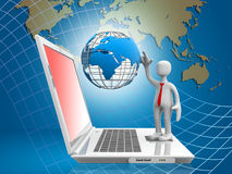 """Global Computer Network. """"Global Computer Network"""", can be used in business, personal, charitable and educational design projects: it may be used in web Royalty Free Stock Images"""