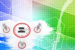 Global computer network Illustration Royalty Free Stock Photo