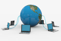 Global computer network. Internet concept. Computer generated image royalty free illustration